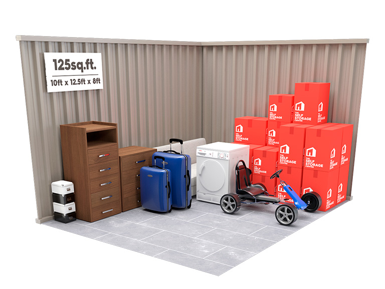 125 sq ft Storage Unit