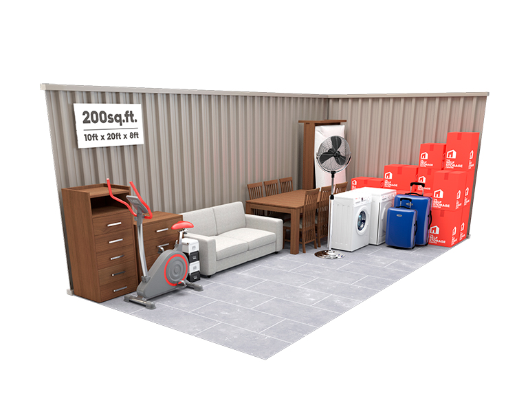 200-500 sq ft Storage Unit