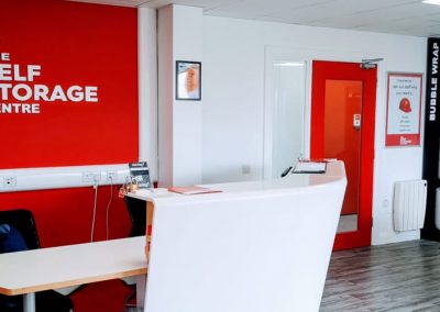 Reception, Self Storage Centre, Mallusk, Belfast